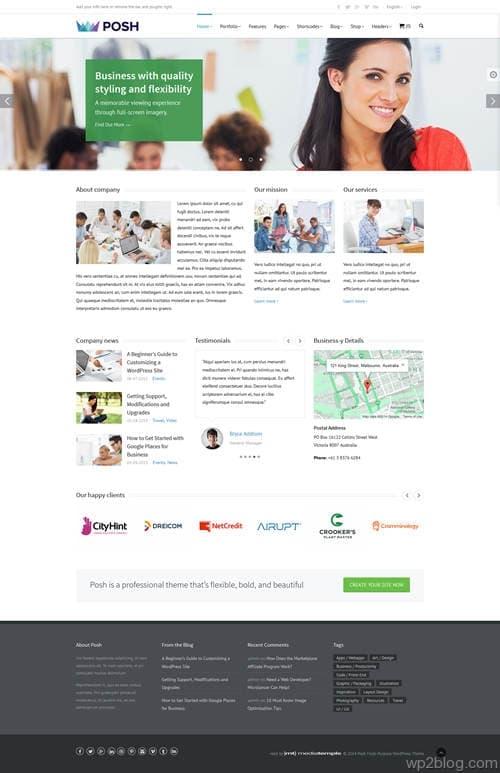 Posh WordPress Theme