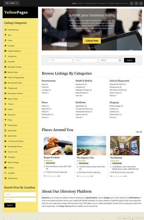 YellowPages WordPress Theme