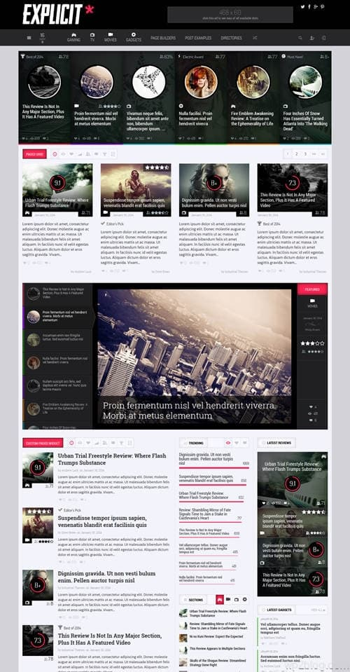 Explicit WordPress Theme