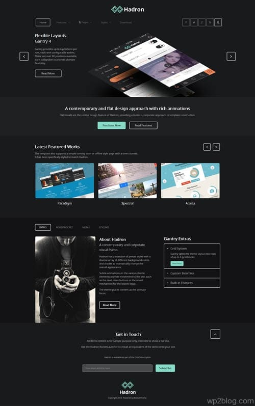 Hadron WordPress Theme