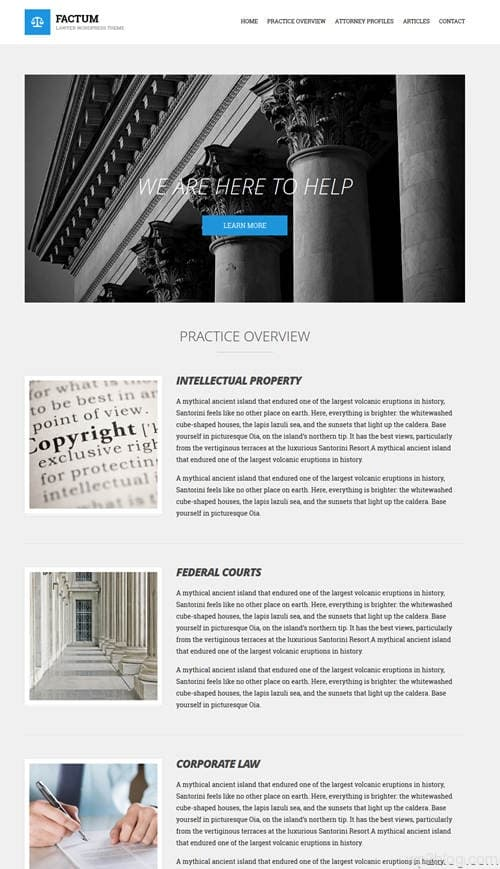 Factum WordPress Theme
