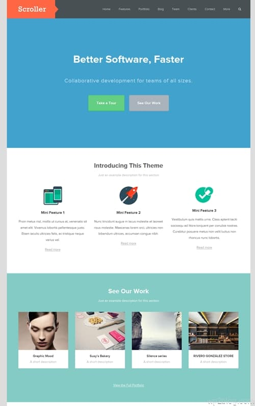 Scroller WordPress Theme