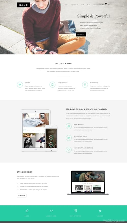 NAMO WordPress Theme