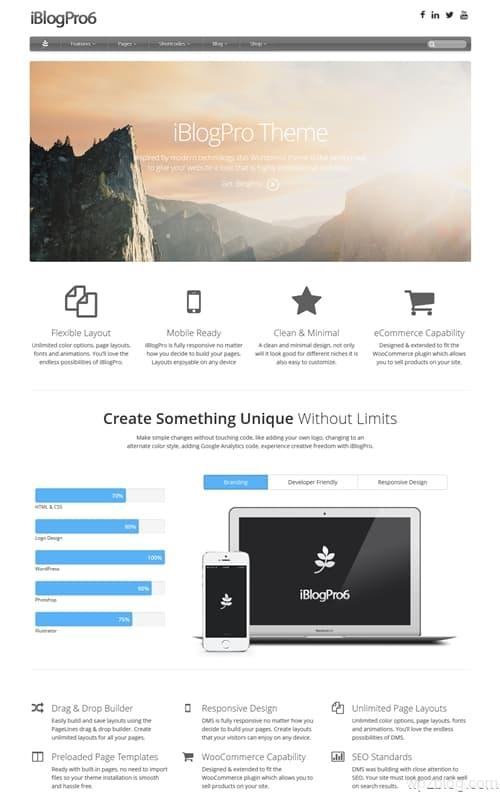 iBlogPro WordPress Theme