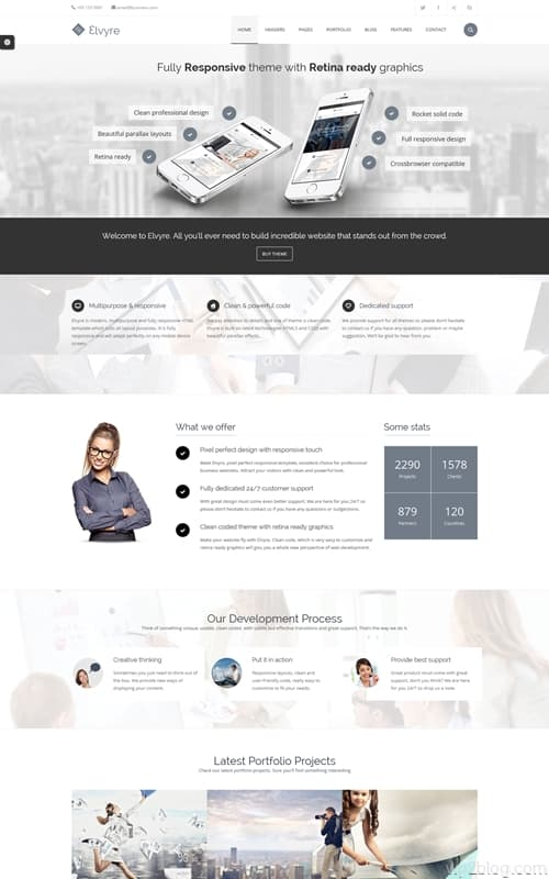 Elvyre WordPress Theme