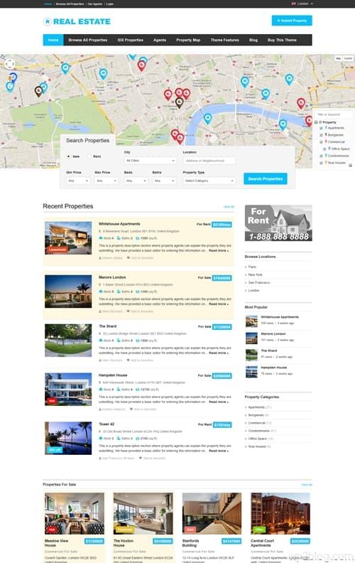 Real Estate Directory WordPress Theme
