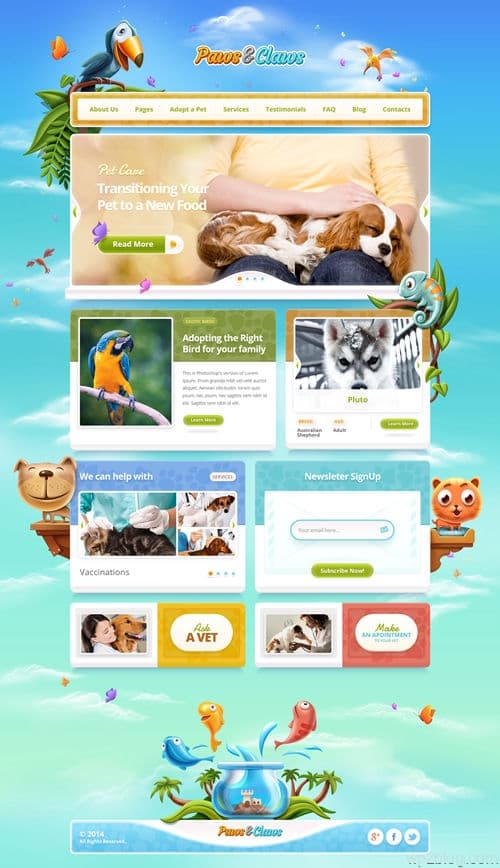 Paws & Claws WordPress Theme