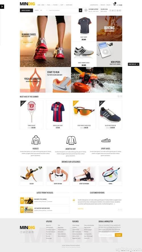 Mindig WordPress Theme