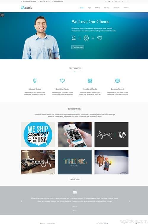 Xenia WordPress Theme