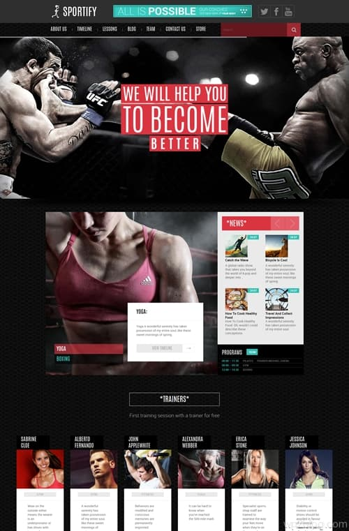 Sportify WordPress Theme