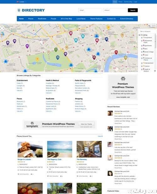 Directory WordPress Theme from Templatic