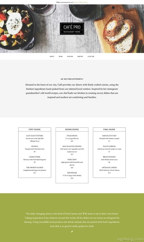 Café_Pro WordPress Theme