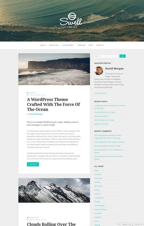 Organic Swell WordPress Theme