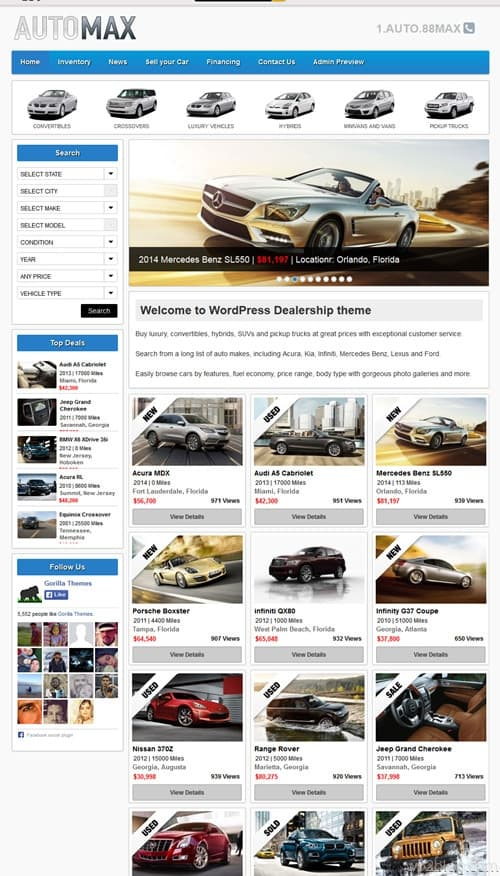 Automax WordPress Theme