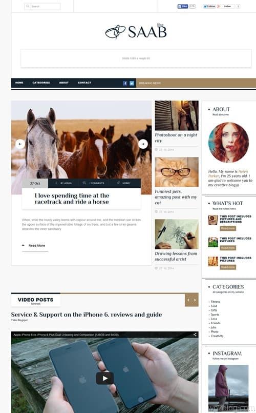 Saab WordPress Theme