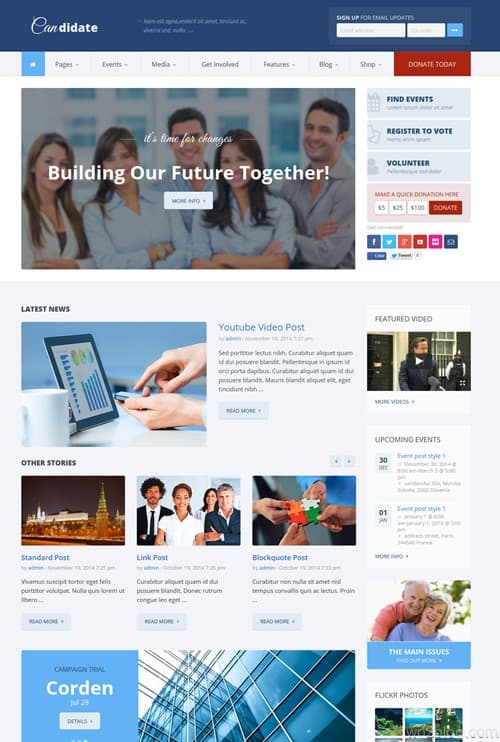Candidate WordPress Theme