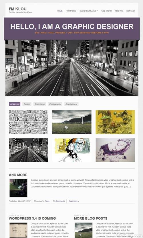 Klou WordPress Theme