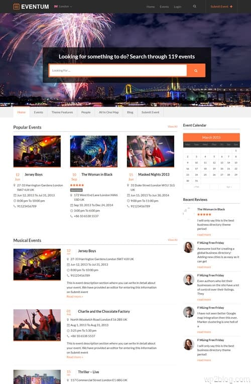 Eventum WordPress Theme