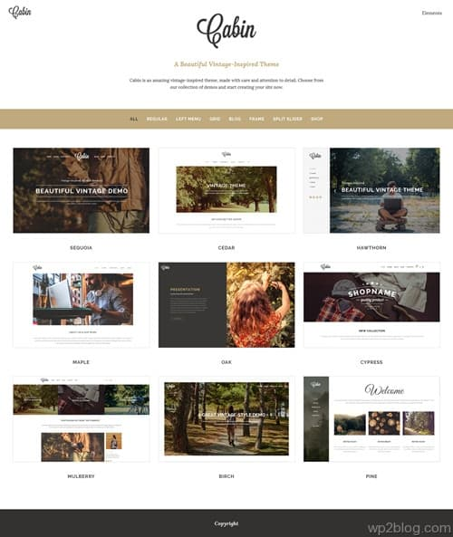 Cabin WordPress Theme