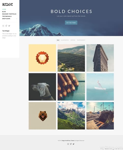 Ridge WordPress Theme