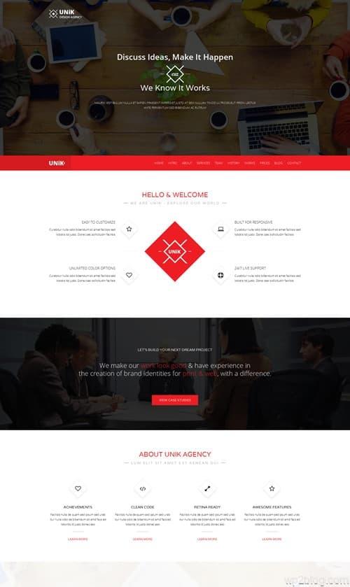 Unik WordPress Theme
