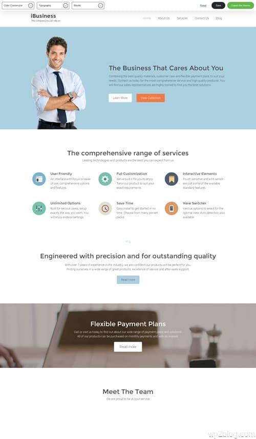 iBusiness WordPress Theme