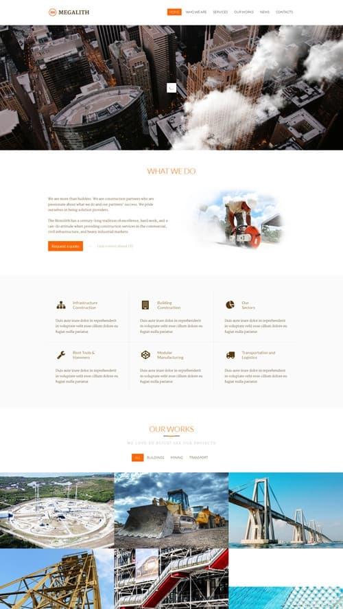 Megalith WordPress Theme