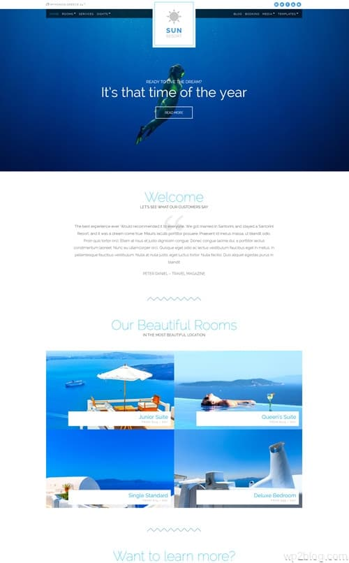 Sun Resort WordPress Theme