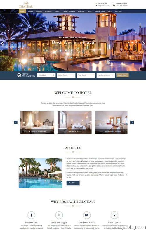 Chateau WordPress Theme