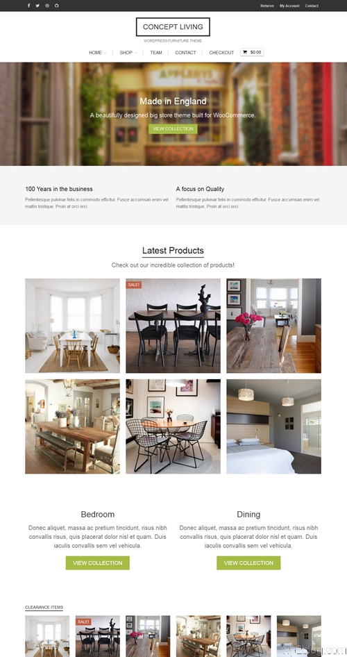 Concept Living WordPress Theme