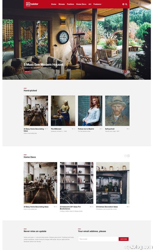 Pinmaister WordPress Theme