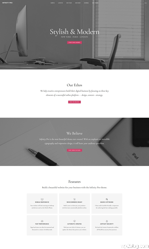 Infinity Pro WordPress Theme